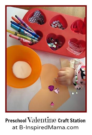 Preschool Valentine Craft Station