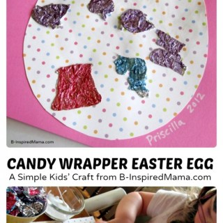 Candy Wrapper Easter Egg Collage