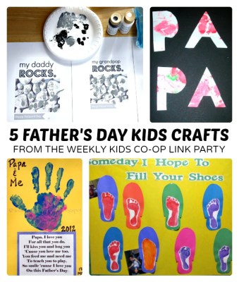 5 Fathers Day Kids Craft from The Weekly Kids Co-Op Link Party at B-Inspired Mama