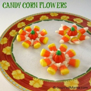 Make Candy Corn Flowers for An Easy Halloween Treat