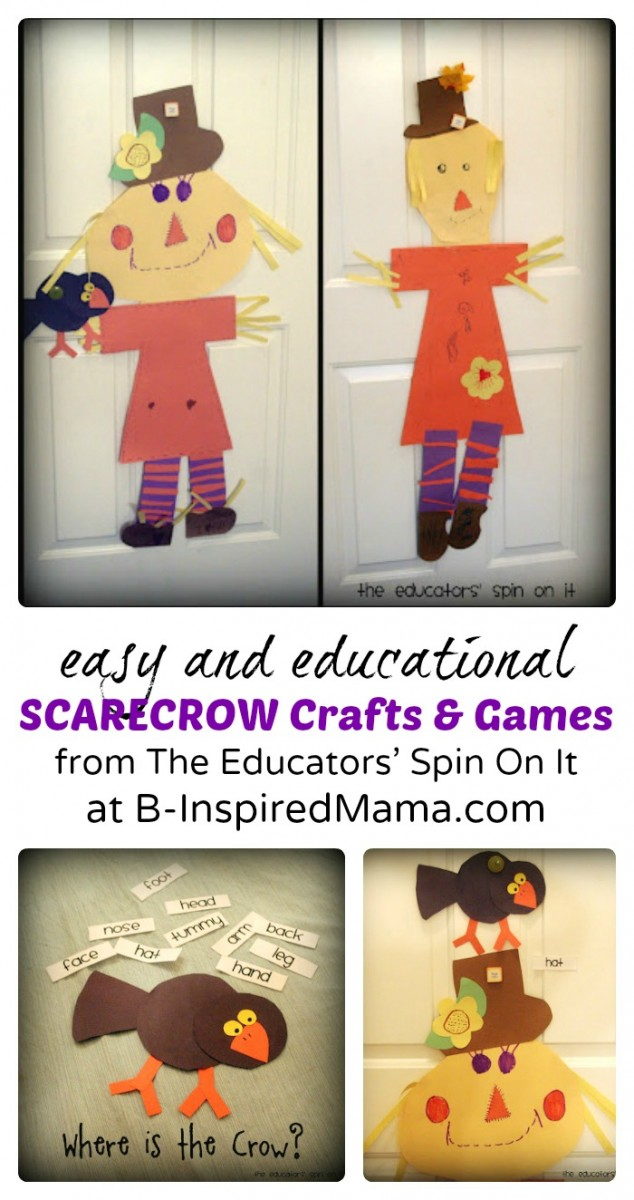 Easy and Educational Scarecrow Crafts and Games at B-Inspired Mama