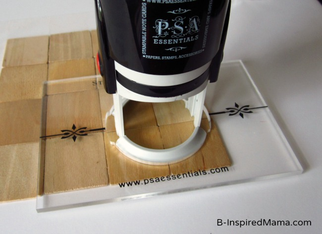 Use PSA Essentials Stamps to Make a Puzzle at B-InspiredMama.com