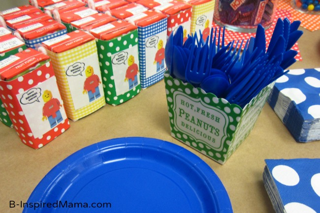 LEGO Party Juice Boxes with Free Printable at B-Inspired Mama