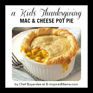 Kids Thanksgiving: Mac and Cheese Pot Pies