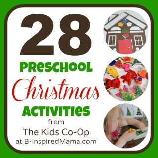 Preschool Christmas Activities from The Kids Co-Op