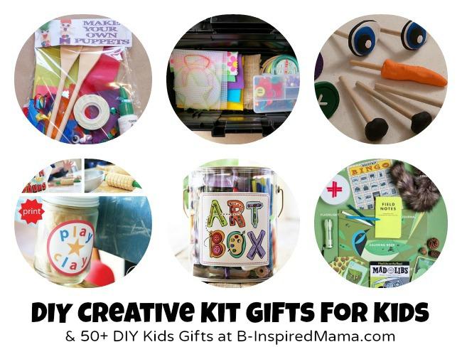 DIY Creative Kits + 50 More DIY Gifts to Make for Kids at B-InspiredMama.com