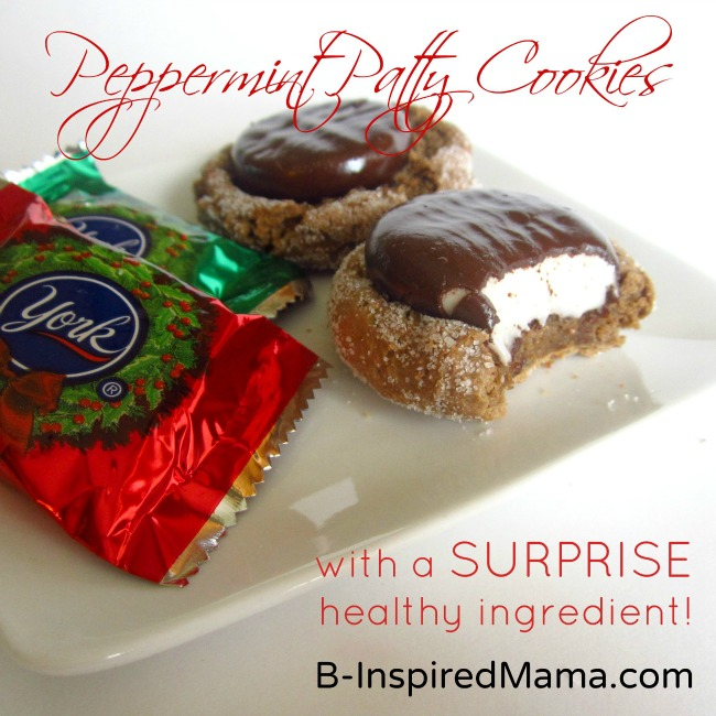 Peppermint Patty Cookies Made Healthier with a Secret Ingredient at B-InspiredMama.com