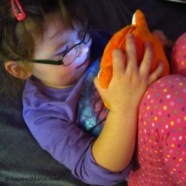Snuggling with Ubooly Interactive Toy at B-InspiredMama.com