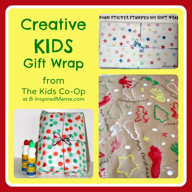 Wrap Presents with the Kids Co-Op at B-InspiredMama