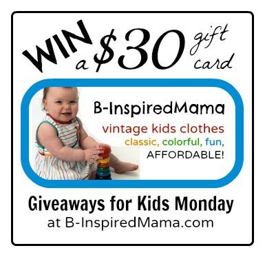 B-InspiredMama Vintage Kids' Clothes Giveaway at B-InspiredMama.com