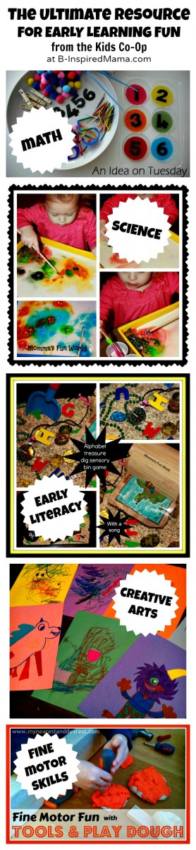 Early Learning with The Kids Co-Op at B-InspiredMama.com