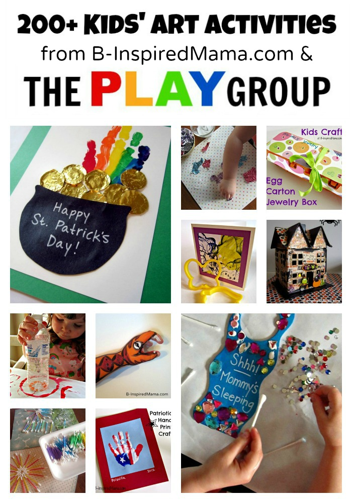 Art Activities from B-Inspired Mama and The PLAY Group
