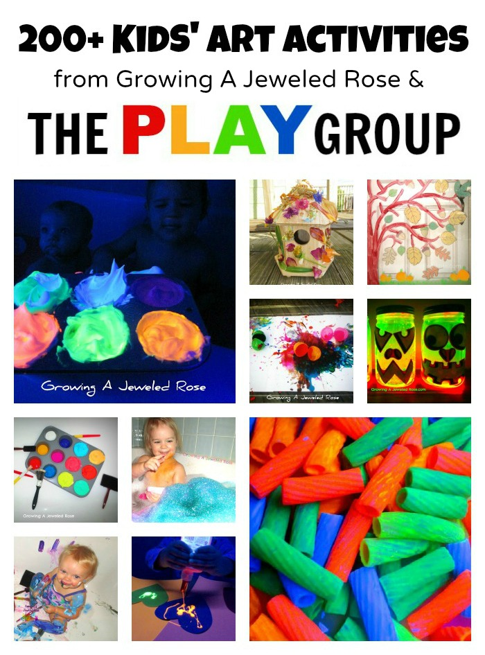 Art Activities from Growing a Jeweled Rose & The PLAY Group