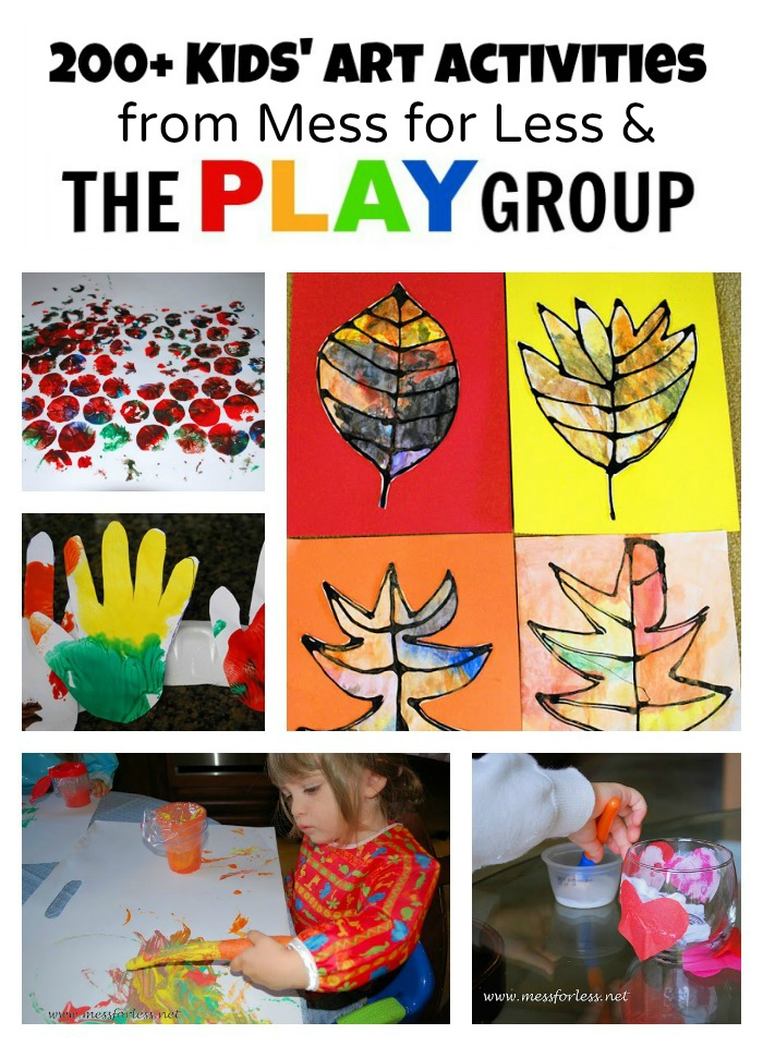 Art Activities from Mess for Less and The PLAY Group