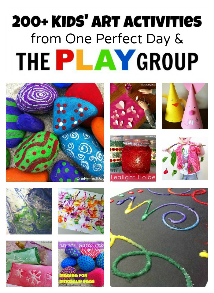 Art Activities from One Perfect Day and The PLAY Group
