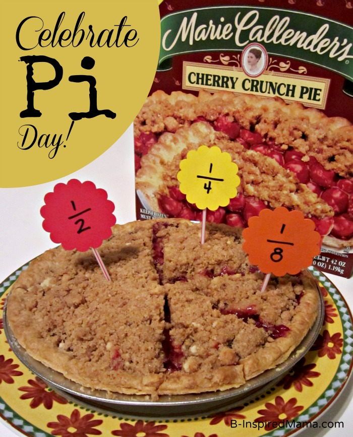 Celebrate Pi Day with Math Fun and Marie Callender's Pie at B-InspiredMama.com
