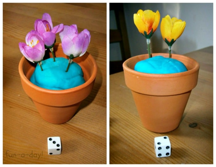 A Spring Flower Math Game from Fun-A-Day! at B-InspiredMama.com
