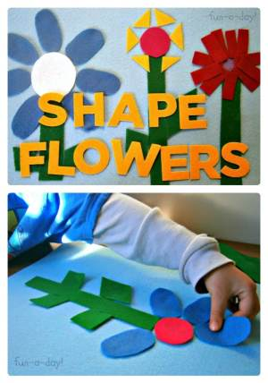 Felt Shape Flowers Activity from Fun-A-Day! at B-InspiredMama.com