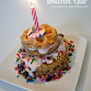 Kids Birthday Breakfast Cake + Giveaway [#EggoWaffleOff]