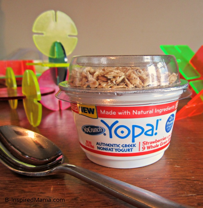 Yopa! Yogurt as a Healthy Snacking Option for Kids at B-InspiredMama.com #YopaYogurt #spon