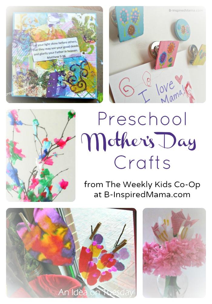 Cute Preschool Mother's Day Crafts