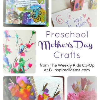 Cute Preschool Mother's Day Crafts