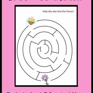 Free Bee Maze Printable