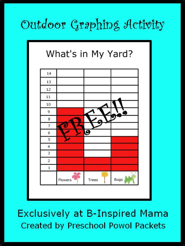 Kids Graph Printable for Outdoor Learning