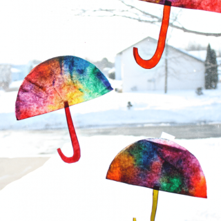 Coffee Filter Umbrella Craft [From the Mamas]