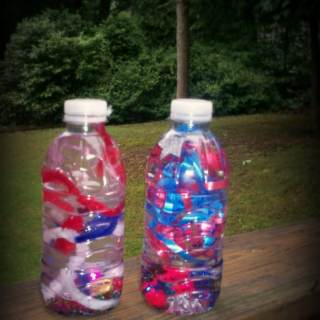 Sensory Bottle Fireworks Craft [From the Mamas]