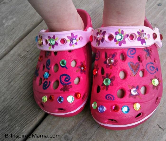 Kids Summer Shoe Craft at B-InspiredMama.com
