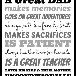 What Makes A Great Dad? [+ Free Print Download]
