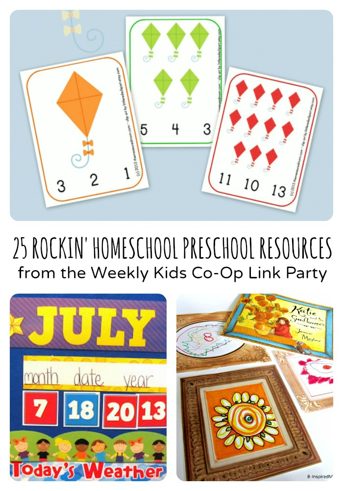 Rockin' Homeschool Preschool Resources from The Weekly Kids Co-Op Link Party