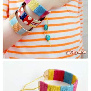 Bracelet Popsicle Stick Craft for Kids [From the Mamas]