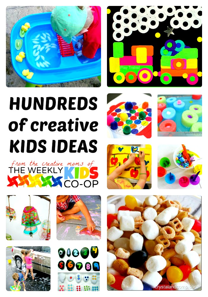 Hundreds of Creative Kids Activities at The Weekly Kids Co-Op at B-InspiredMama.com