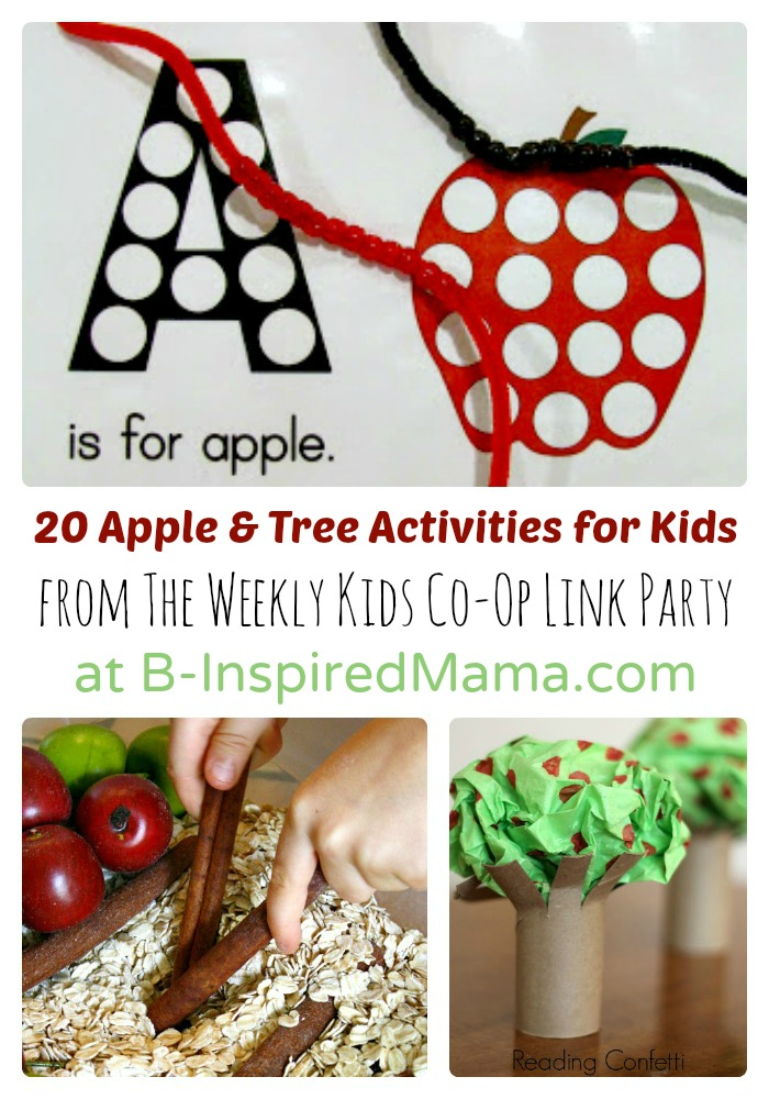 20 Awesome Apple and Tree Activities for Kids from The Weekly Kids Co-Op at B-Inspired Mama