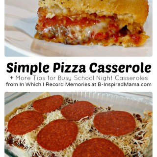 An Easy Recipe for Pizza Casserole