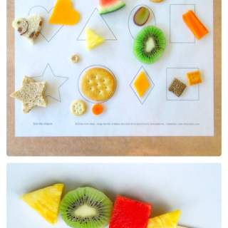 Sorting Shapes with Food [From the Mamas]