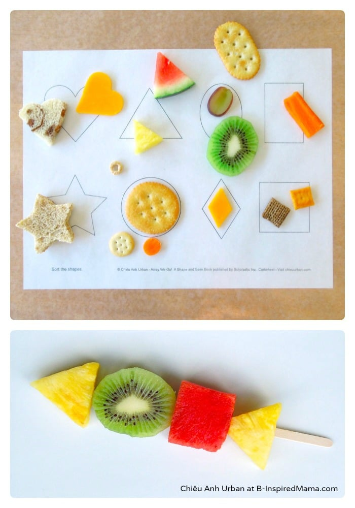 Exploring and Sorting Shapes with Food at B-Inspired Mama