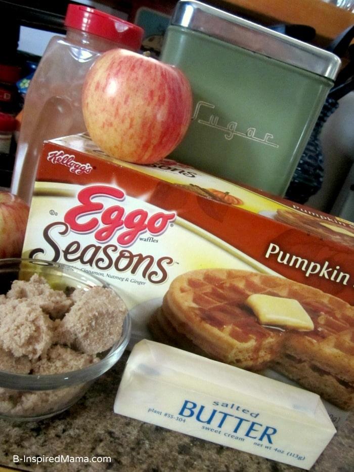 Ingredients for Pumpkin Apple Crisp Waffle Recipe at B-Inspired Mama