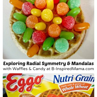 Make Waffle Mandalas for Fun Kids Snacks [Sponsored by Eggo]