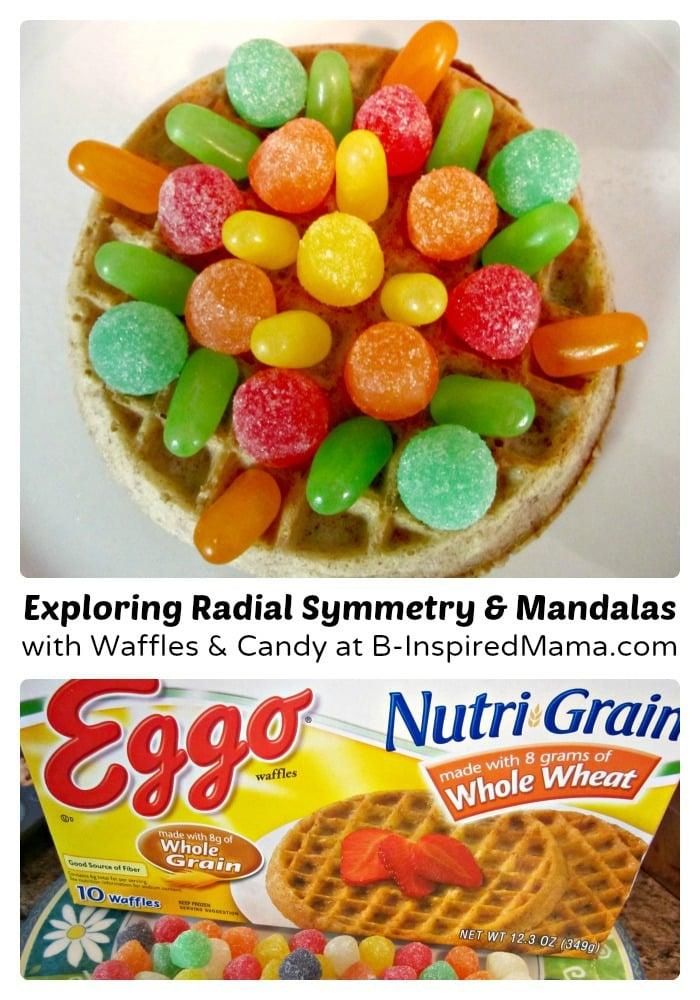 Making an Eggo Waffle Mandala Kids Snack at B-Inspired Mama