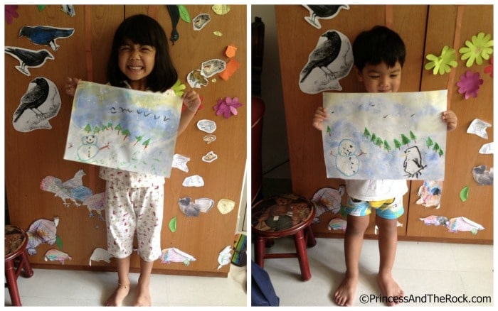 Snow Art Preschool Activities at B-Inspired Mama