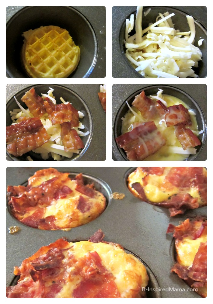 Making Bacon and Eggs Breakfast Muffins for Dinner at B-Inspired Mama