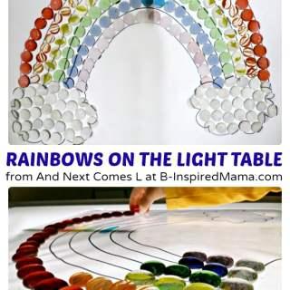 Rainbow Light Table Play