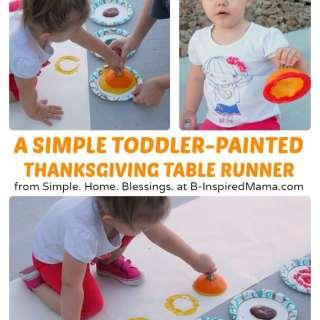 A Kids Thanksgiving Table Runner