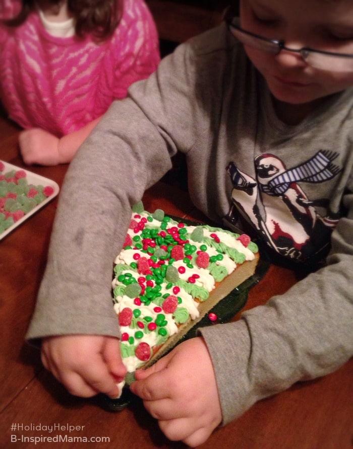 Kids Making a Simple Christmas Cake Recipe - Sponsored #HolidayHelper - B-Inspired Mama