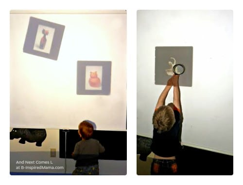 Preschool Art Appreciation with Art Slides and a Light Projector at B-Inspired Mama