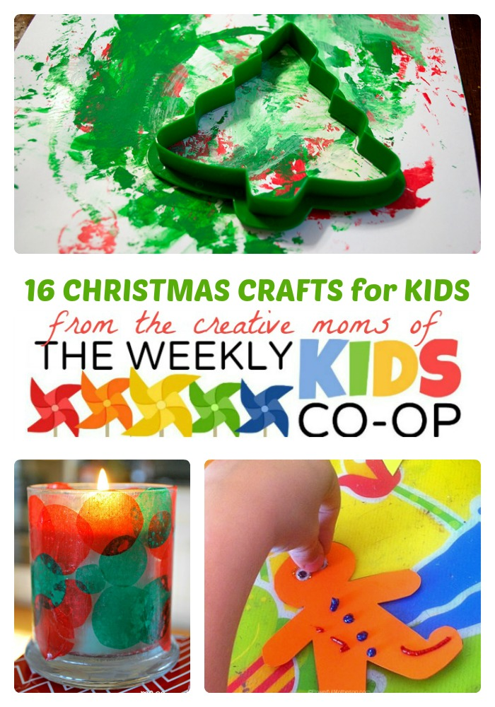 16 Fun Christmas Crafts for Kids from The Weekly Kids Co-Op at B-Inspired Mama