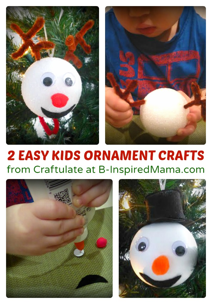 2 Easy Christmas Ornaments For Kids To Make